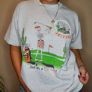 Arizona golf shirt skeleton vintage 90's single